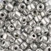 Czech Rola Bead 4.5mm Apx 20g Opaque Metallic Silver